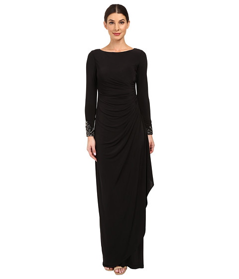Adrianna Papell Venecian Jersey Draped Gown