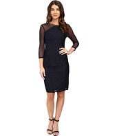 Adrianna Papell - Power Mesh and Lace Shift Dress