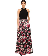 Adrianna Papell - Jersey Halter Bodice and Jacquard Skirt