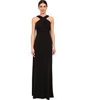 Adrianna Papell - Crossover Halter Jersey Gown