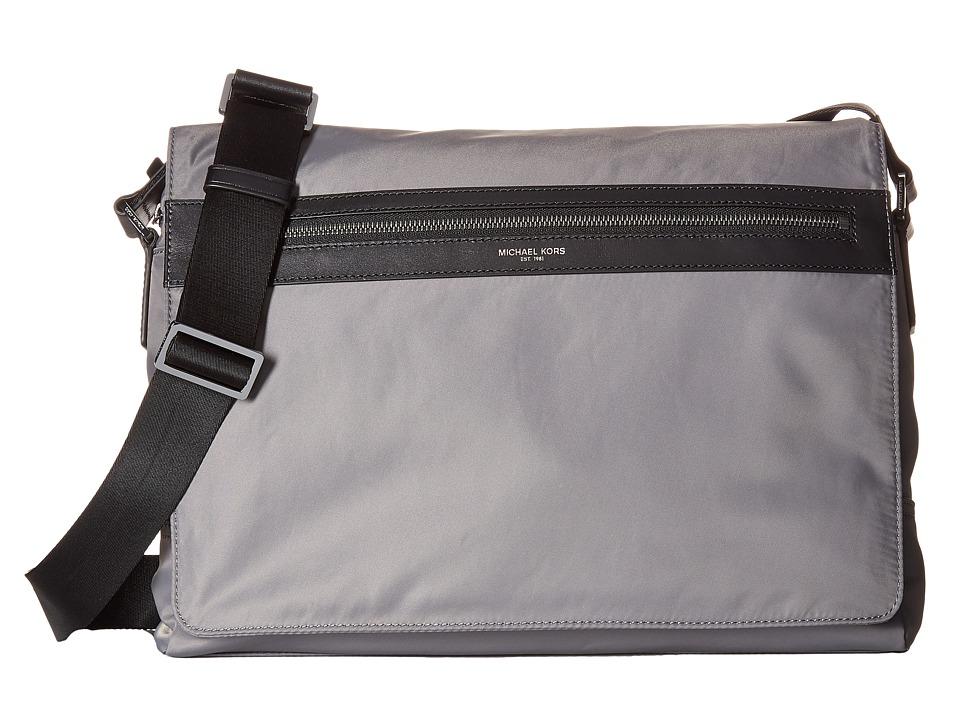 Michael Kors - Kent Lightweight Nylon Large Messenger (Steel Grey) Messenger Bags
