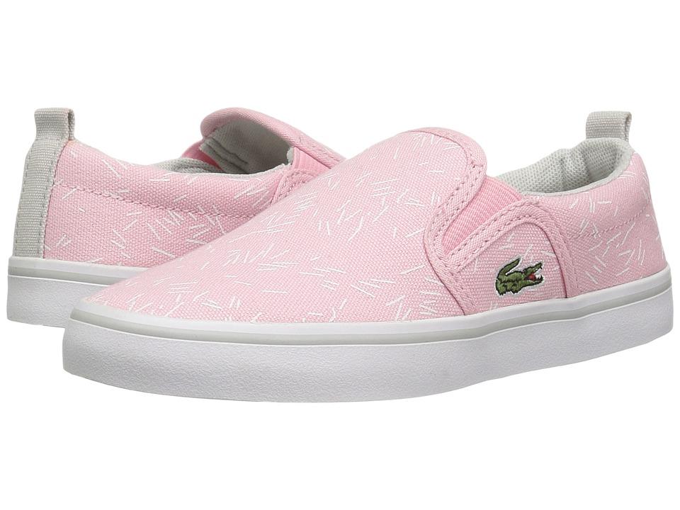 Lacoste Kids Gazon 316 3 SPC (Little Kid) (Light Pink) Girl