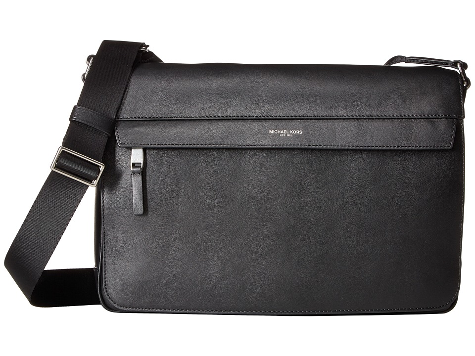 Michael Kors - Owen Large Messenger (Black) Messenger Bags