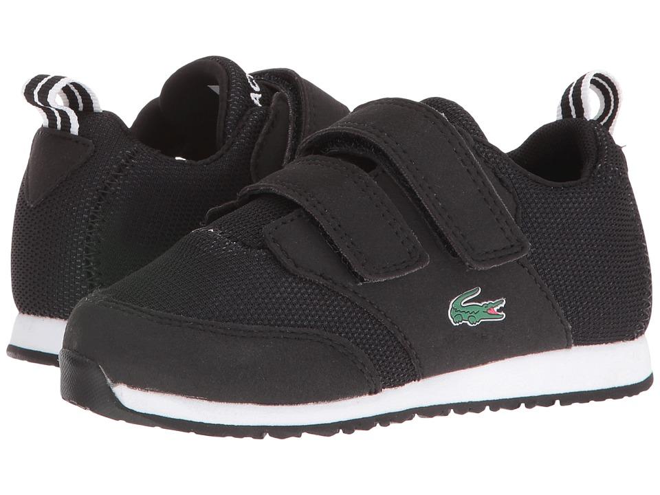 Lacoste Kids L.Ight 316 1 SPI (Toddler/Little Kid) (Black/Dark Grey) Kid