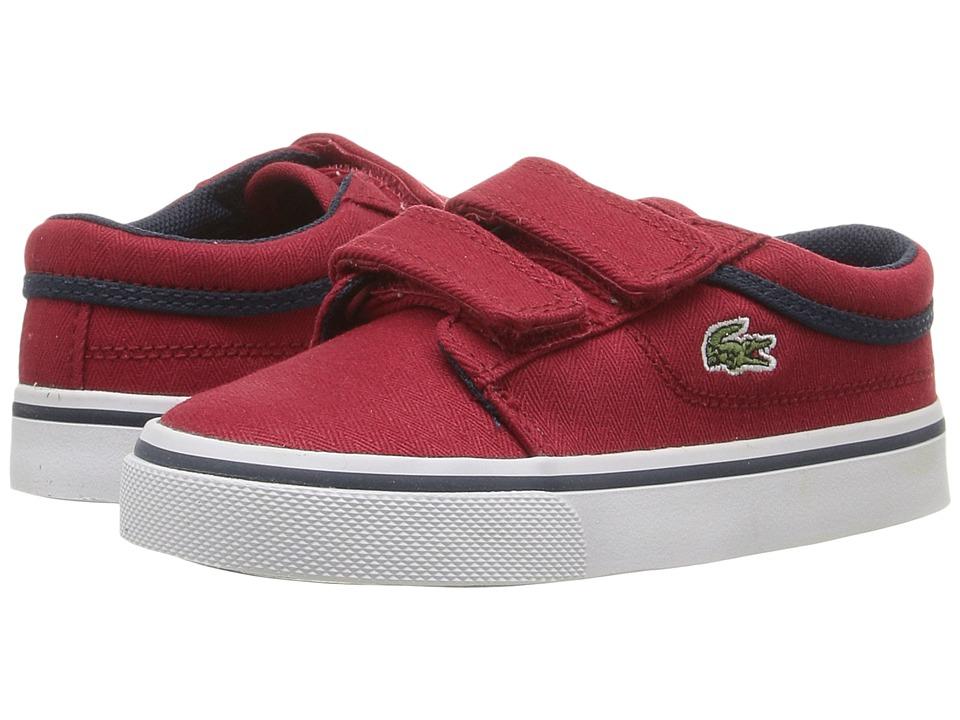 Lacoste Kids Vaultstar 316 1 SPI (Toddler/Little Kid) (Dark Red) Kid