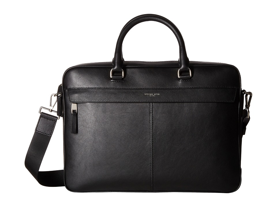 Michael Kors - Owen Large Briefcase (Black) Briefcase Bags