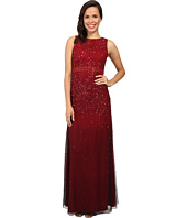 Adrianna Papell - Sleeveless Beaded Mesh Ombre Gown