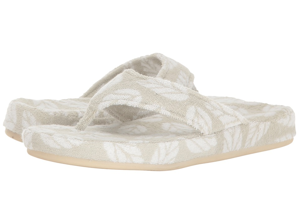 Acorn Summerweight Spa Cotton Thong (Grey Leaf) Women