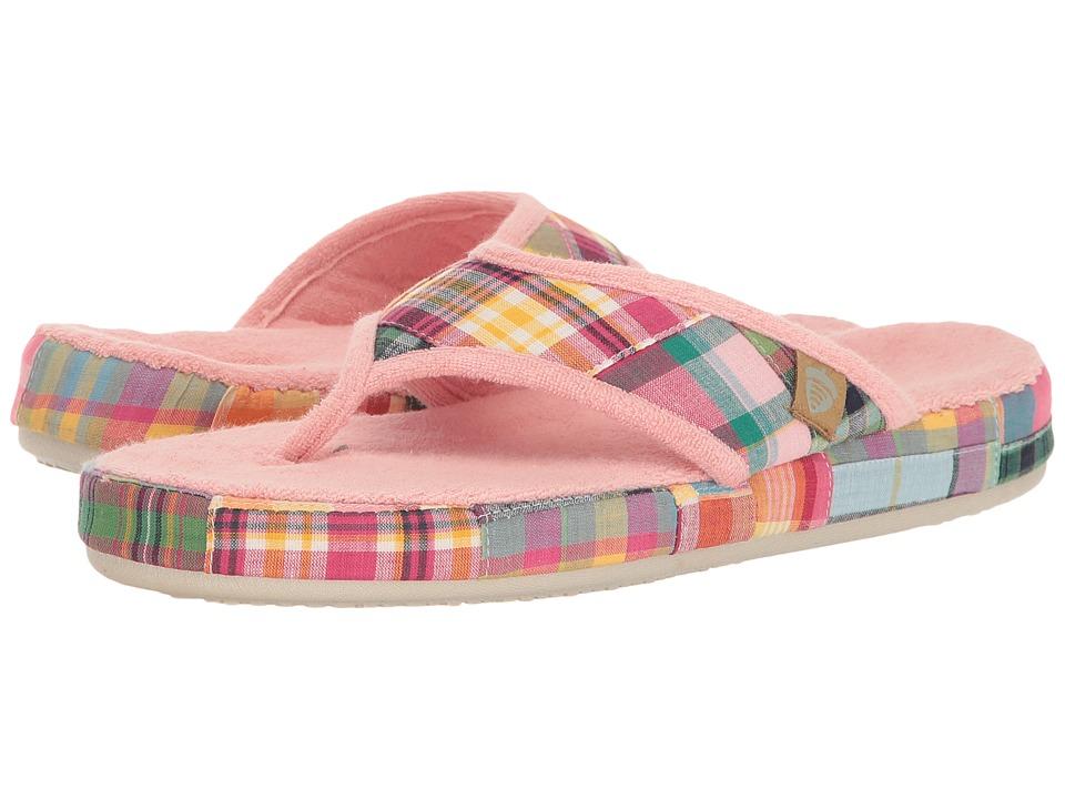 Acorn Thong Summerweight (Bright Madras) Slippers