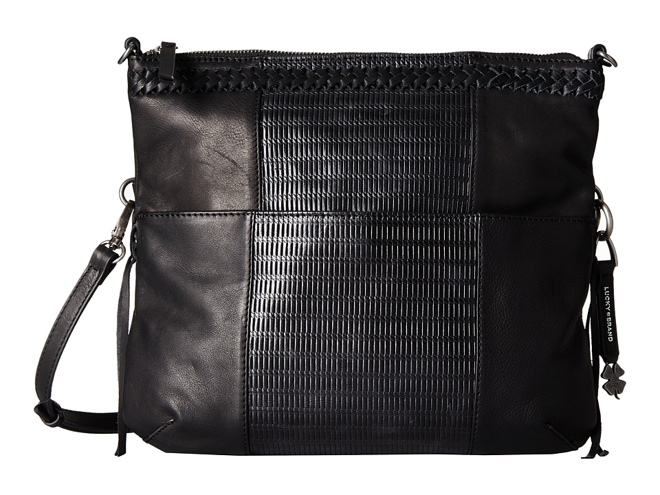 Lucky Brand - Noah Fold-Over Crossbody (Black) Cross Body Handbags