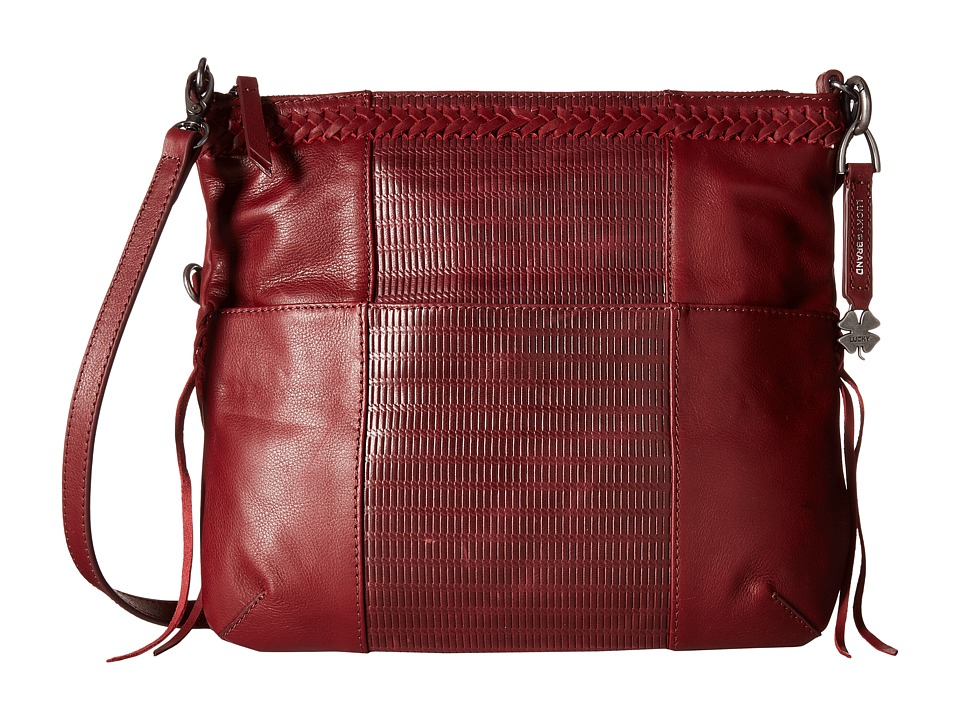 Lucky Brand - Noah Fold-Over Crossbody (Beet) Cross Body Handbags