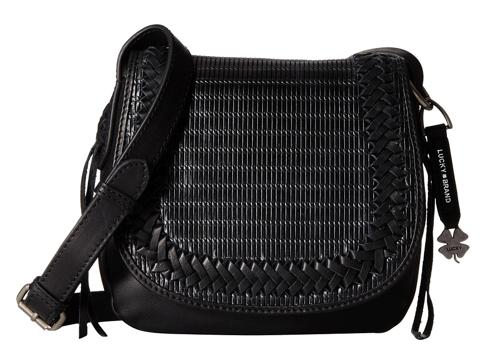 Lucky Brand - Noah Saddle Bag (Black) Bags