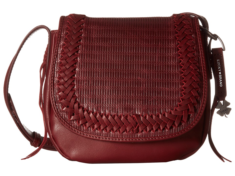 Lucky Brand - Noah Saddle Bag (Beet) Bags