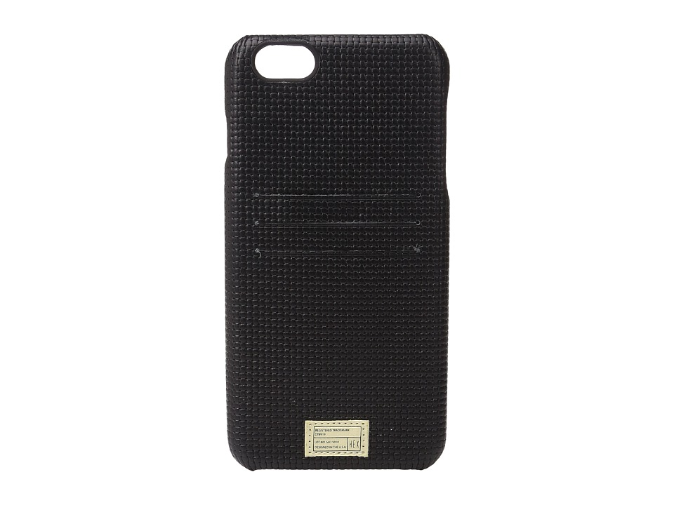 HEX - iPhone6+/6S+ Solo Wallet (Black Woven) Cell Phone Case