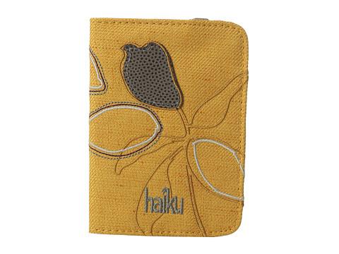 Haiku Track RFID Passport Case - Amber Gold