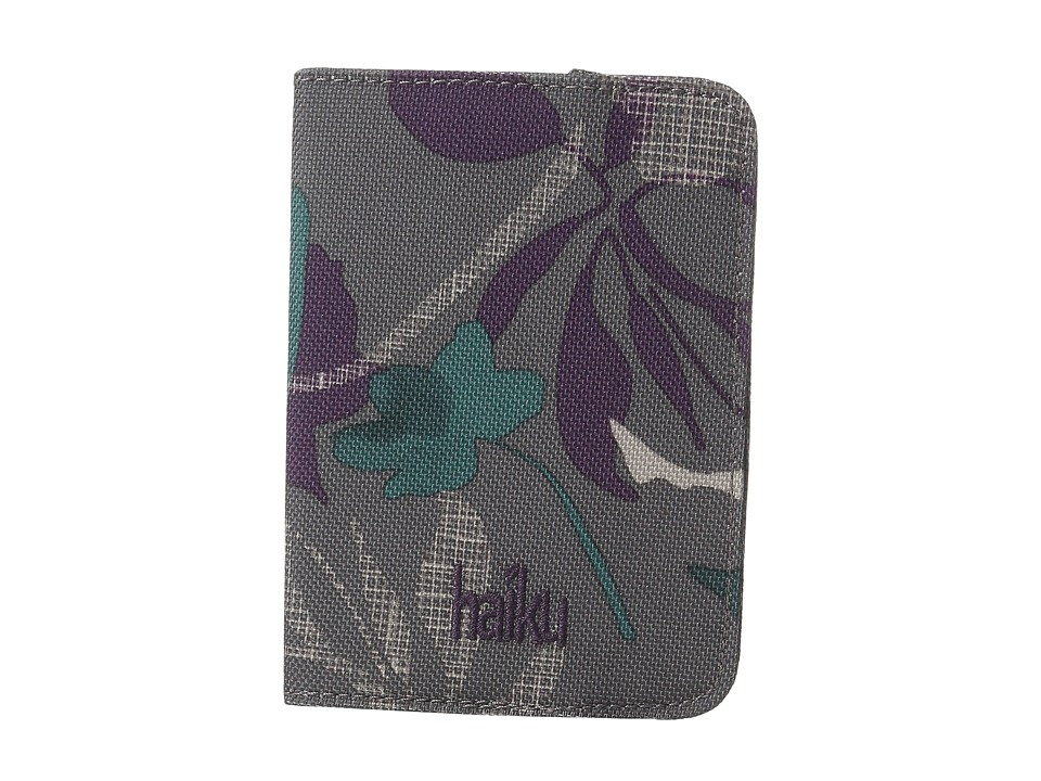 Haiku - Track RFID Passport Case (Flower Fall Print) Handbags