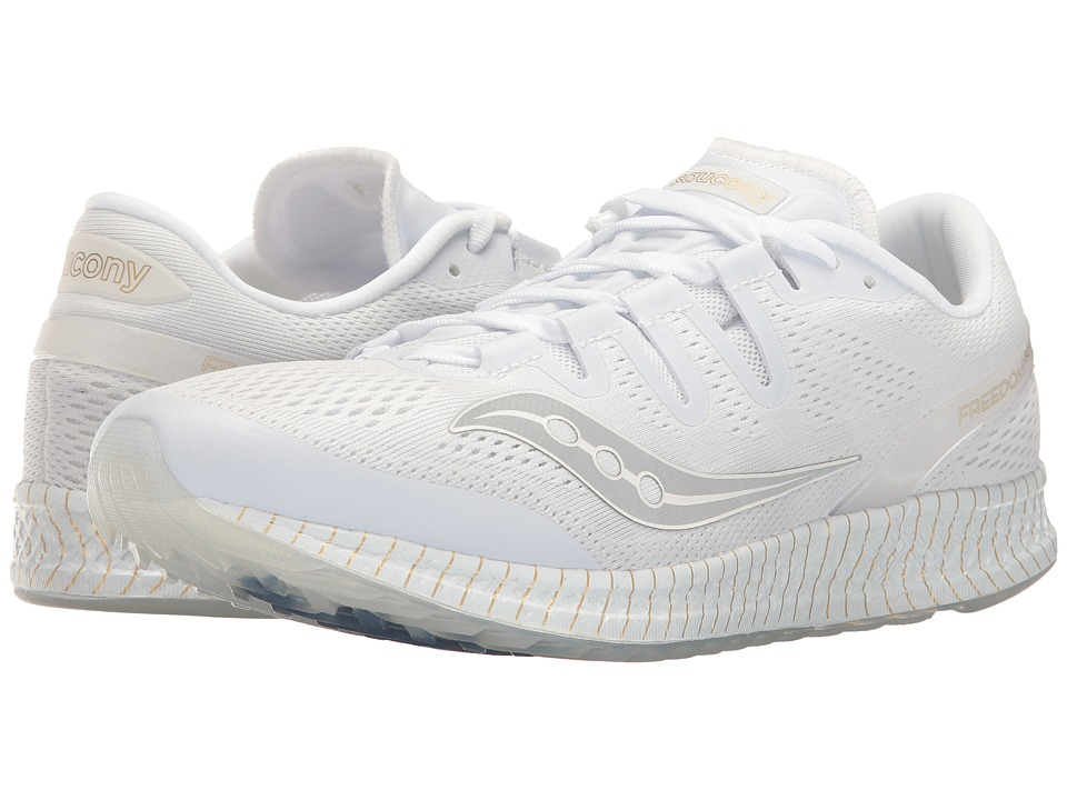 Saucony Freedom ISO (White/Gold) Athletic Shoes