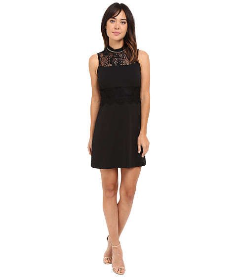 Jessica Simpson Solid Scuba Crepe with Lace