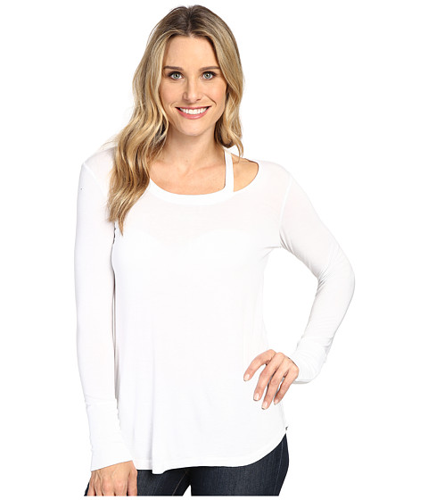 Allen Allen Long Sleeve Cut Shoulder