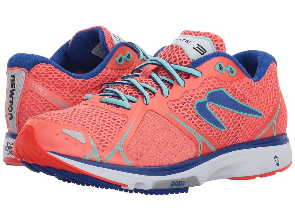 Newton Running - Fate III (Coral/Jade) Womens Shoes