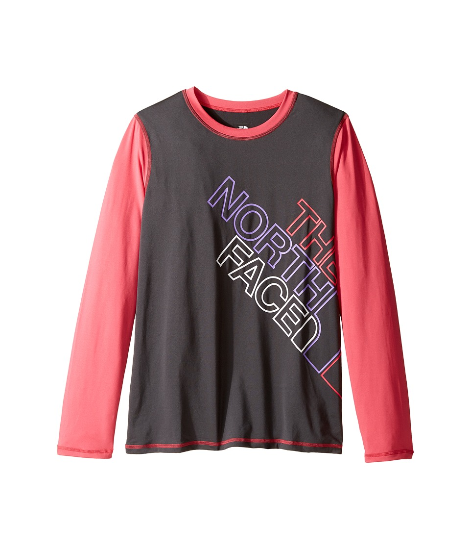The North Face Kids Long Sleeve Hike/Water Tee (Little Kids/Big Kids) (Graphite Grey) Girl
