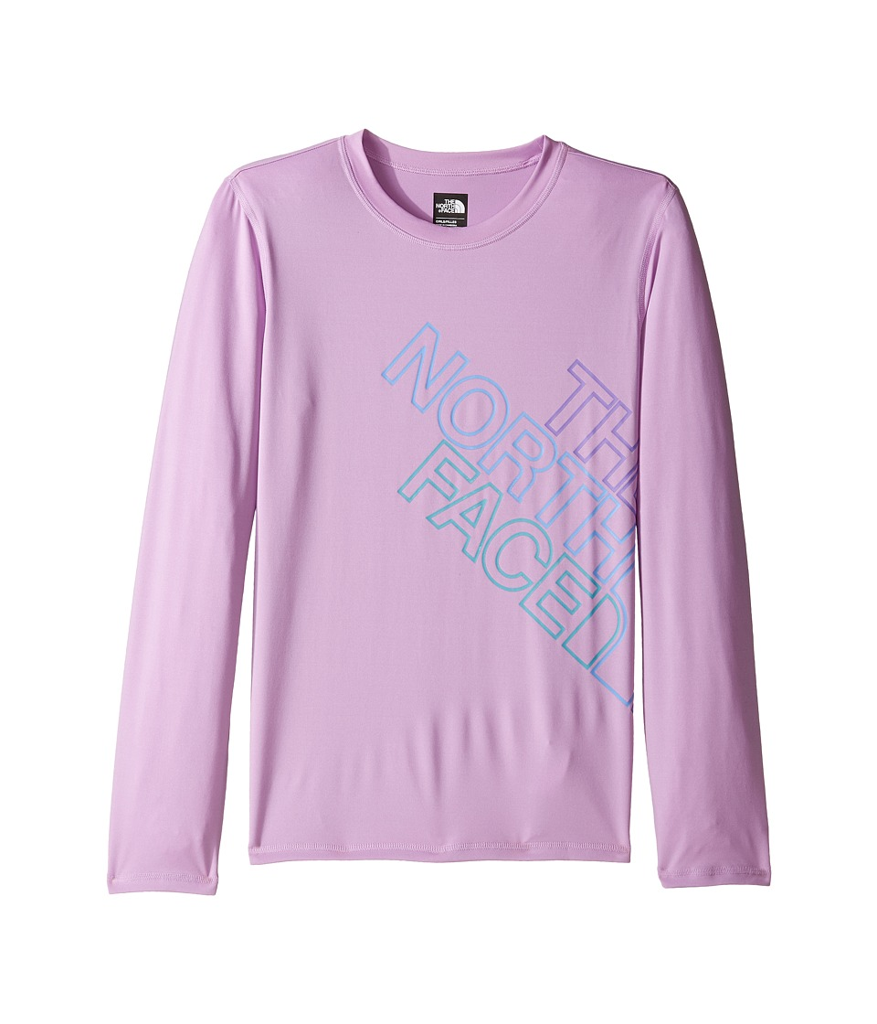 The North Face Kids Long Sleeve Hike/Water Tee (Little Kids/Big Kids) (Violet Tulle) Girl