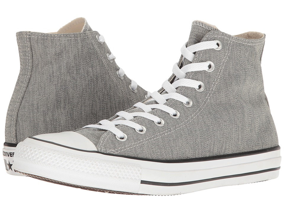 Converse Chuck Taylor All Star Heathered Knit Hi (Charcoal Grey/Mouse/White) Classic Shoes