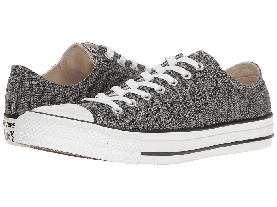 Converse Chuck Taylor All Star Heathered Knit Ox (Dolphine/Black/White) Classic Shoes