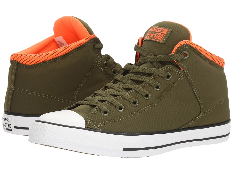 Converse Chuck Taylor(r) All Star(r) High Street Backpack Poly Hi (Herbal/Hyper Orange/White) Men