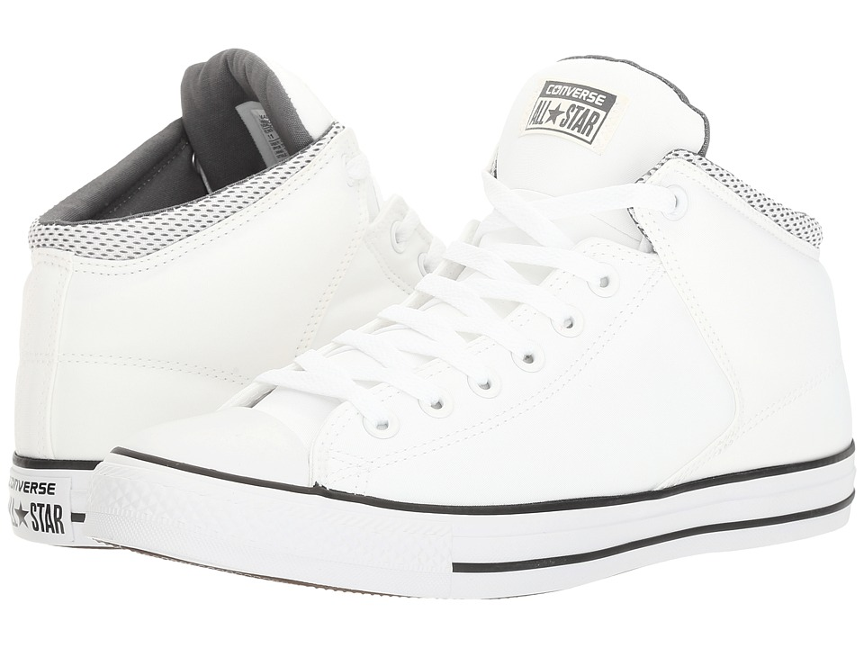 Converse Chuck Taylor(r) All Star(r) High Street Backpack Poly Hi (White/Black/Thunder) Men