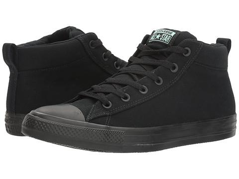 Converse Chuck Taylor® All Star® Street Basics Mid - Black/Green Glow/Black