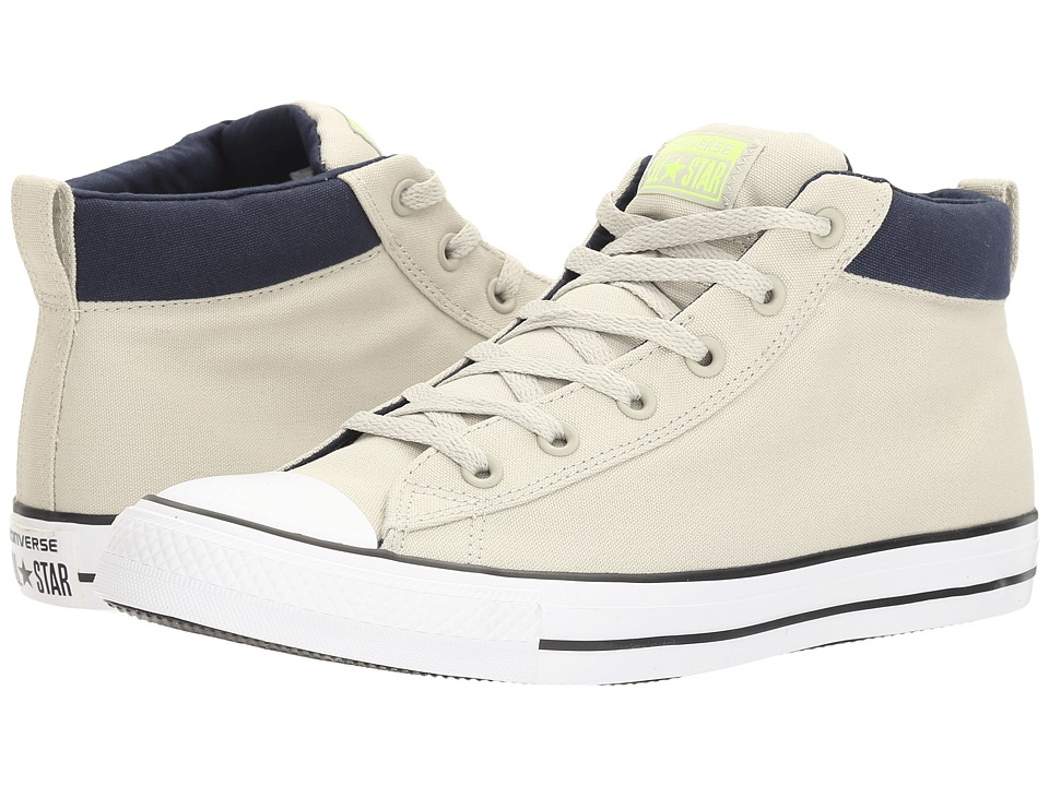Converse Chuck Taylor(r) All Star(r) Street Basics Mid (Light Surplus/Volt/White) Men