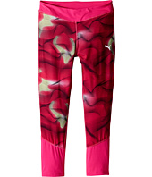 Puma Kids - Cropped Tights w/ Contrast Piecing (Big Kids)