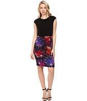 Maggy London - Flower Spray Scuba Sheath Dress
