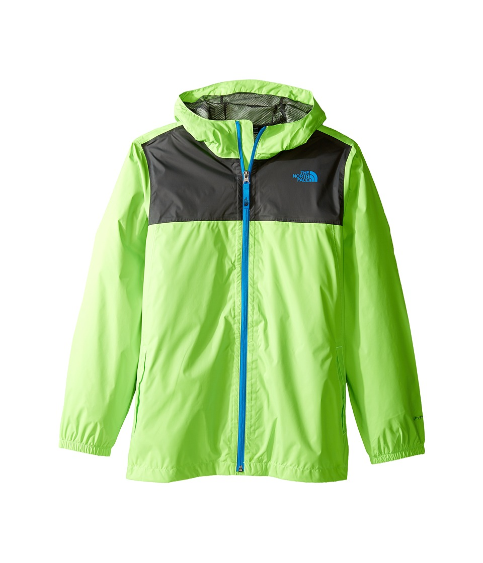 The North Face Kids Zipline Rain Jacket (Little Kids/Big Kids) (Power Green) Boy