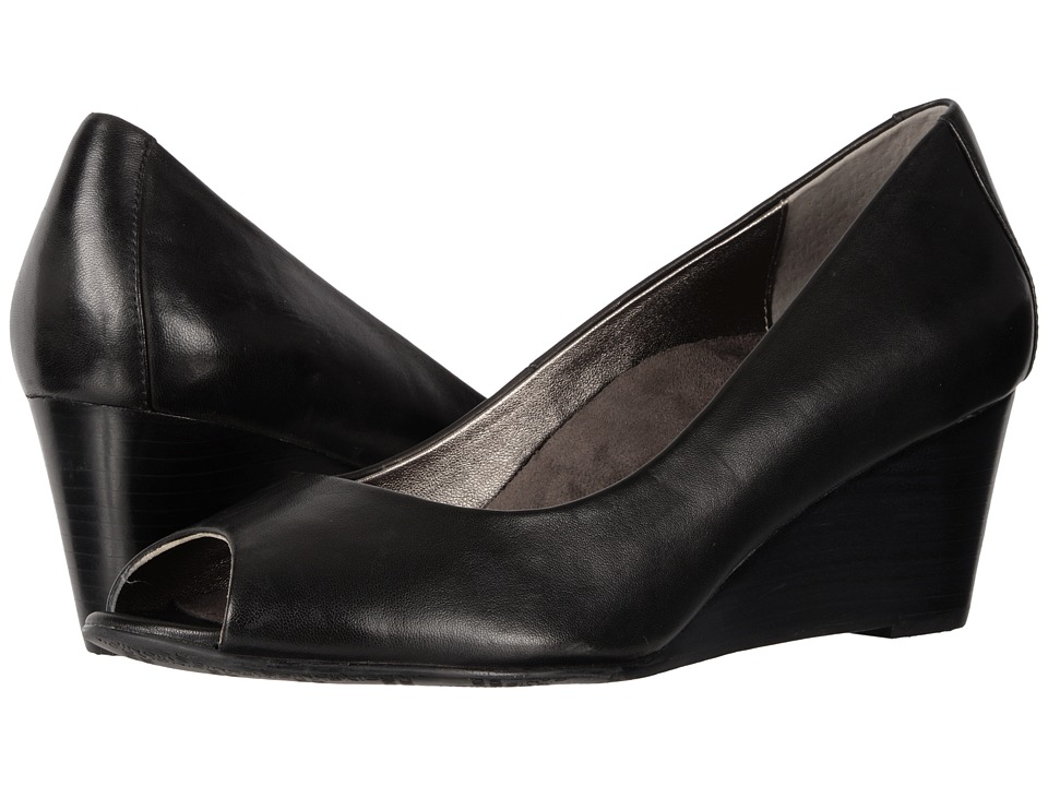 Vionic Bria (Black Sheep Nappa) Women's Wedge Shoes