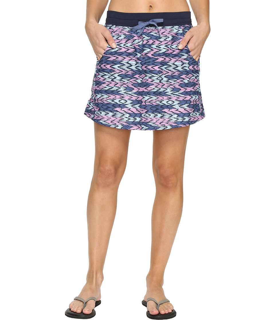 The North Face Class V Skort (Coastal Fjord Blue Painted Ikat Print) Women