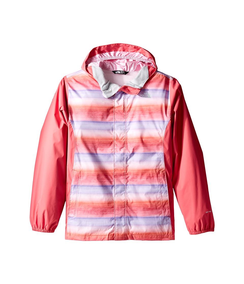 The North Face Kids Resolve Reflective Jacket (Little Kids/Big Kids) (Honeysuckle Pink Ombre Stripe Rain Print (Prior Season)) Girl