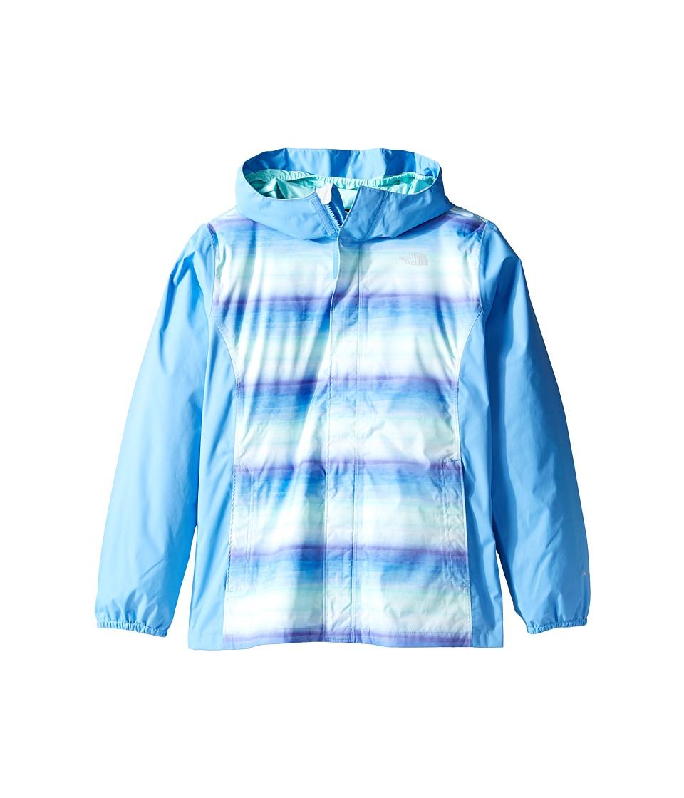 The North Face Kids Resolve Reflective Jacket (Little Kids/Big Kids) (Provence Blue Ombre Stripe Rain Print (Prior Season)) Girl