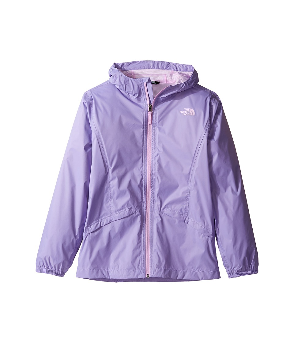 The North Face Kids Zipline Rain Jacket (Little Kids/Big Kids) (Paisley Purple) Girl