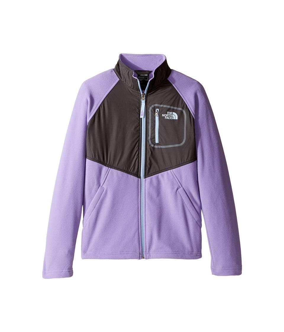 The North Face Kids Glacier Track Jacket (Little Kids/Big Kids) (Paisley Purple (Prior Season)) Girl