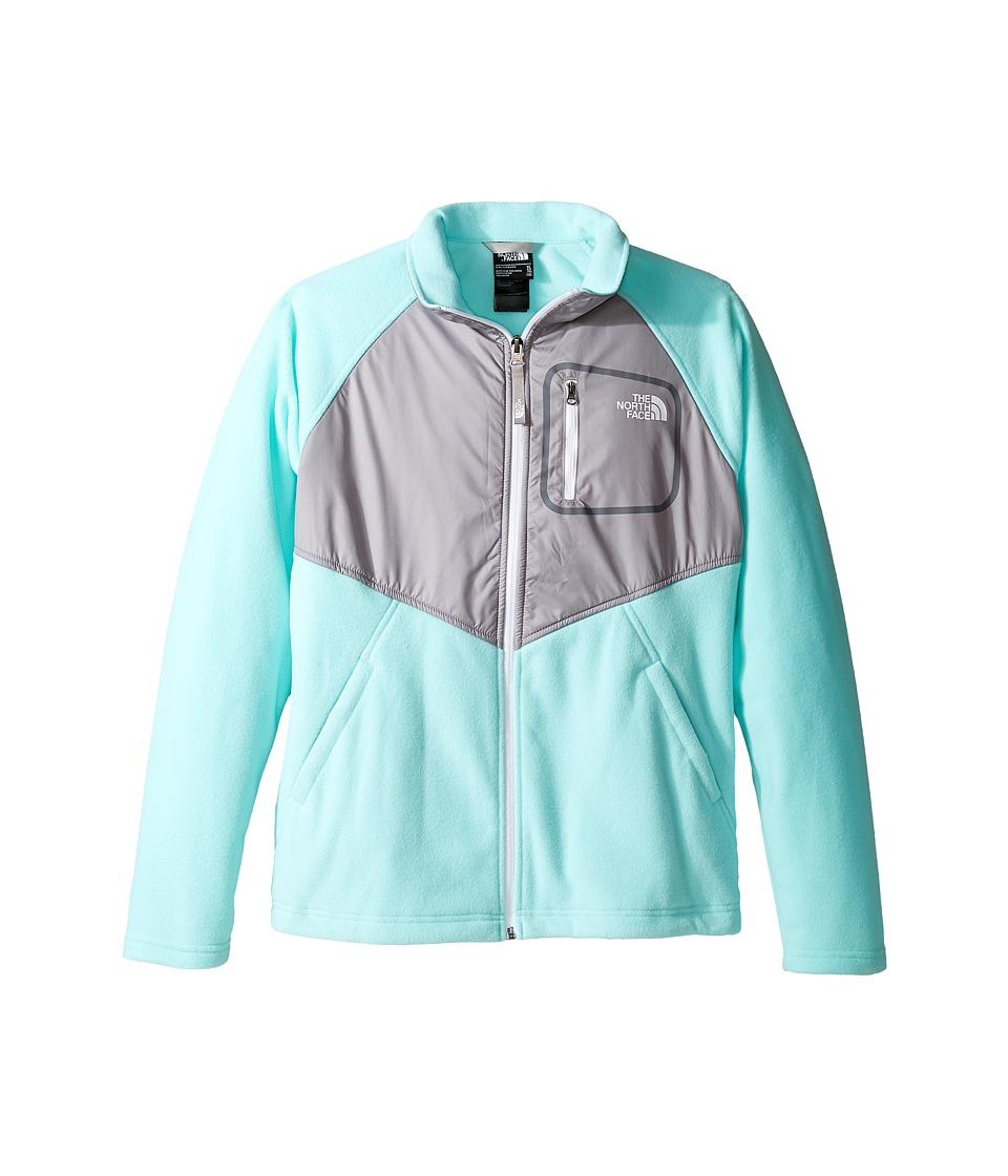 The North Face Kids Glacier Track Jacket (Little Kids/Big Kids) (Breeze Blue (Prior Season)) Girl