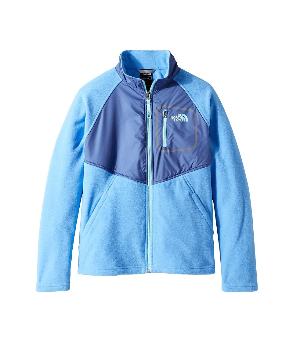 The North Face Kids Glacier Track Jacket (Little Kids/Big Kids) (Provence Blue (Prior Season)) Girl