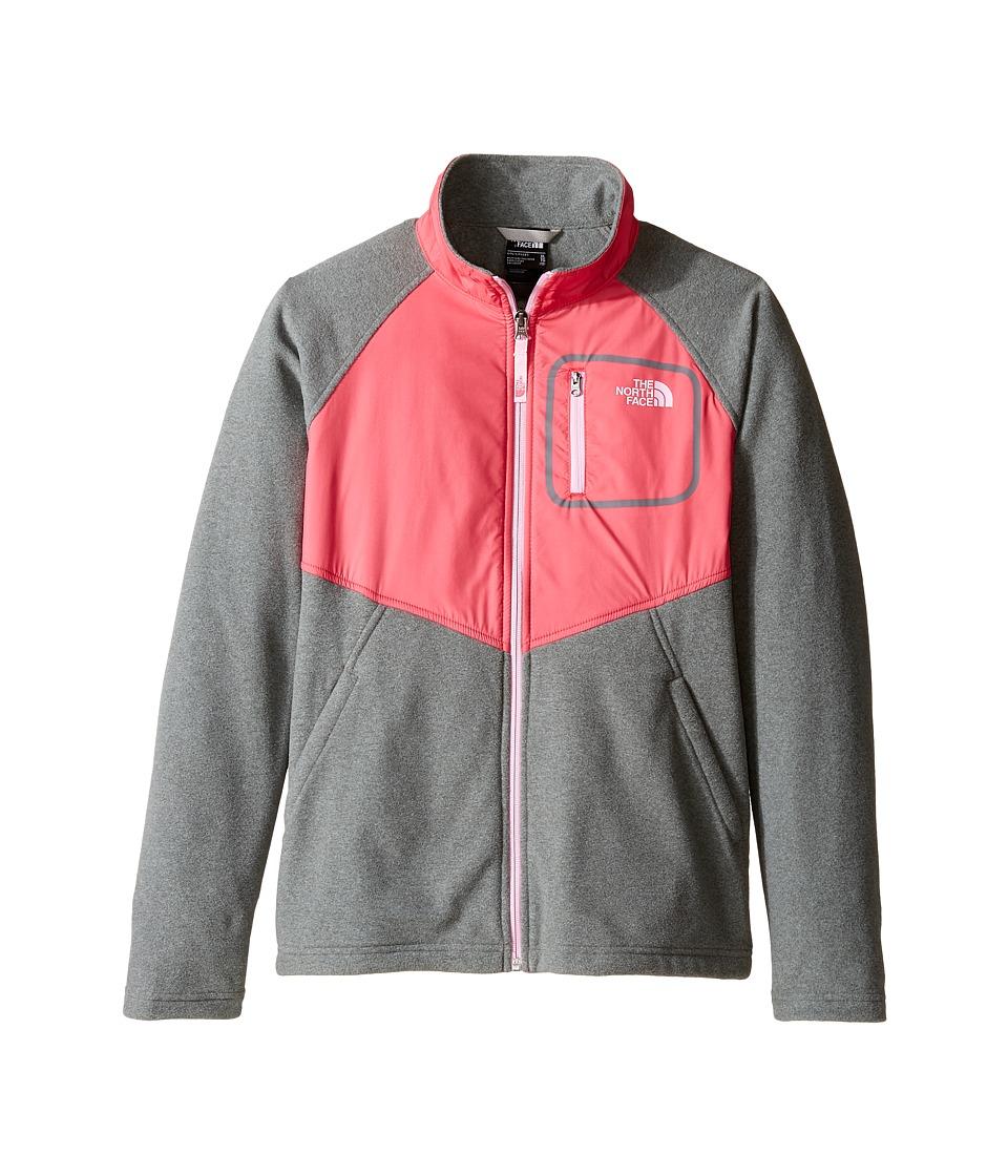 The North Face Kids Glacier Track Jacket (Little Kids/Big Kids) (TNF Medium Grey Heather (Prior Season)) Girl