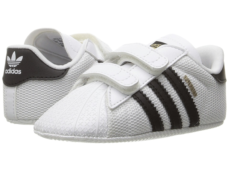 adidas Originals Kids Superstar Crib (Infant/Toddler) (White/Black) Boys Shoes