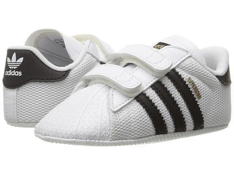 adidas Originals Kids Superstar Crib (Infant/Toddler) - White/Black