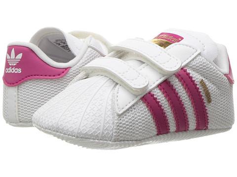adidas Originals Kids Superstar Crib (Infant/Toddler) - White/Bold Pink