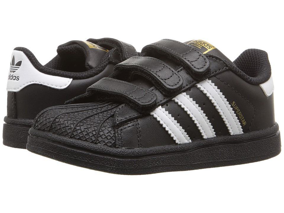 adidas Originals Kids Superstar CF (Infant/Toddler) (Black/White) Kids Shoes