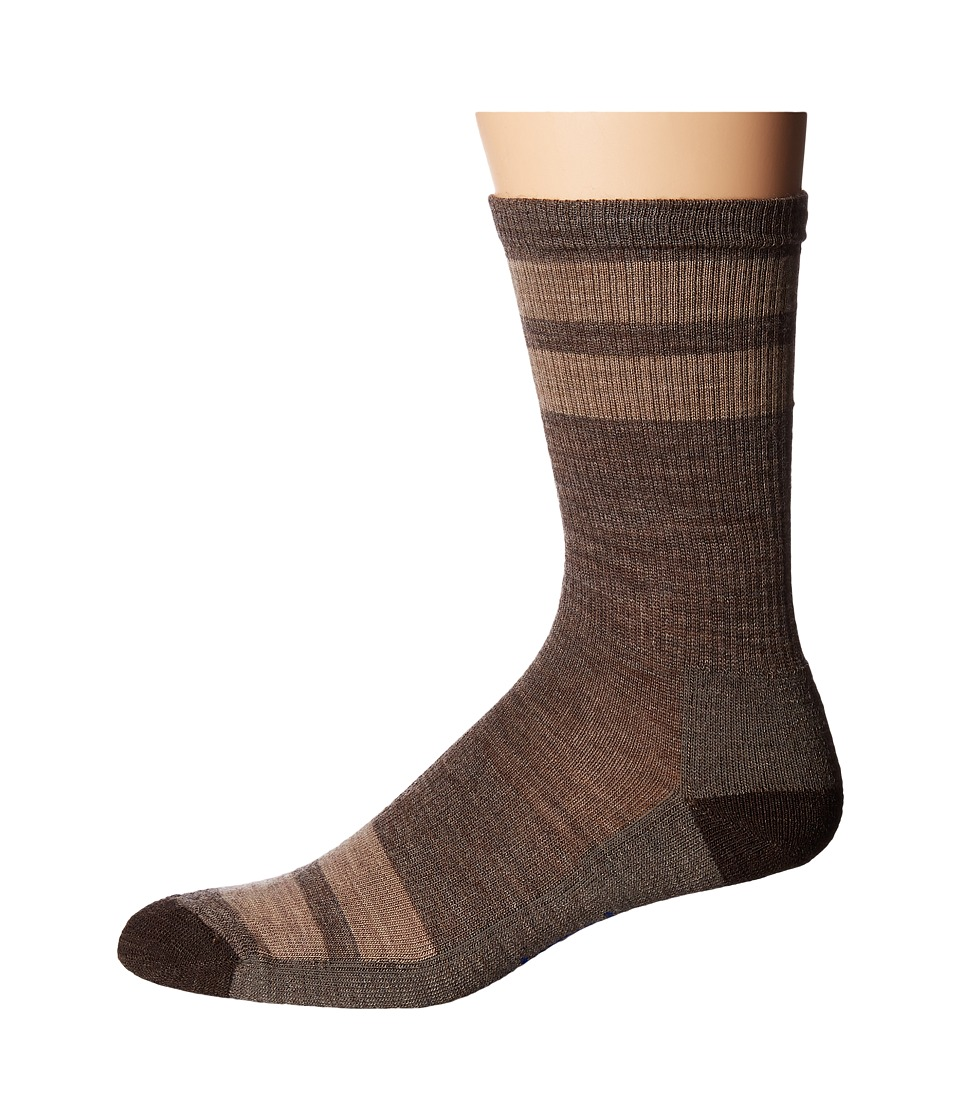 Smartwool Striped Hike Light Crew (Taupe) Men's Crew Cut ...