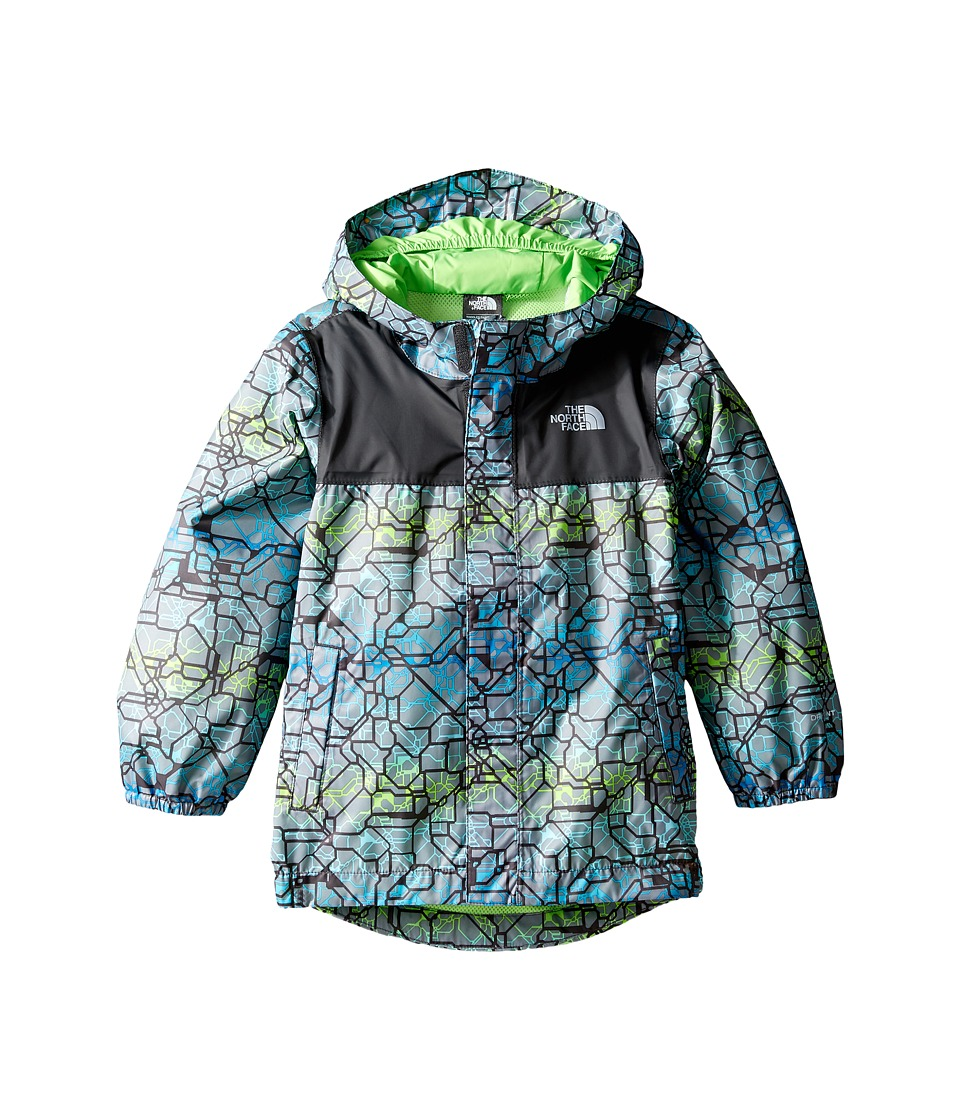The North Face Kids Tailout Rain Jacket (Toddler) (Graphite Grey Ombre Crackle Print) Boy